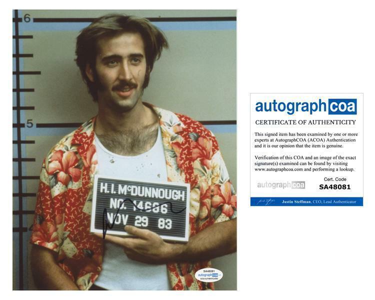 "Nicolas Cage ""Raising Arizona"" AUTOGRAPH Signed"