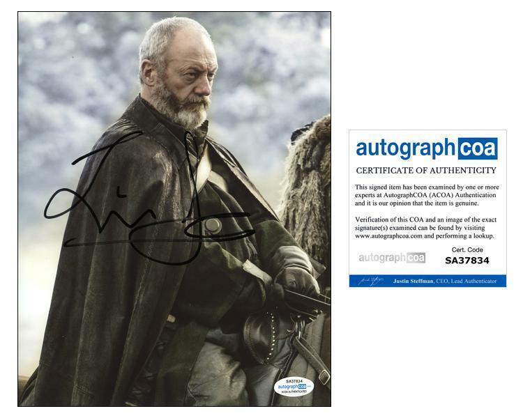"""Liam Cunningham """"Game of Thrones"""" AUTOGRAPH Signed 'Davos Seaworth' 8x10 Photo C"""