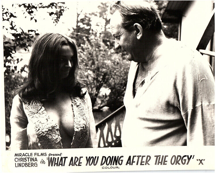 What Are You Doing After the Orgy? Original Lobby Card Christina Lindberg sexy