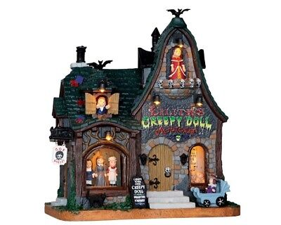 Halloween Shop (LEMAX CREEPY DOLL SHOP Spookytown Halloween Modellbau Spooky Town Spieluhr)