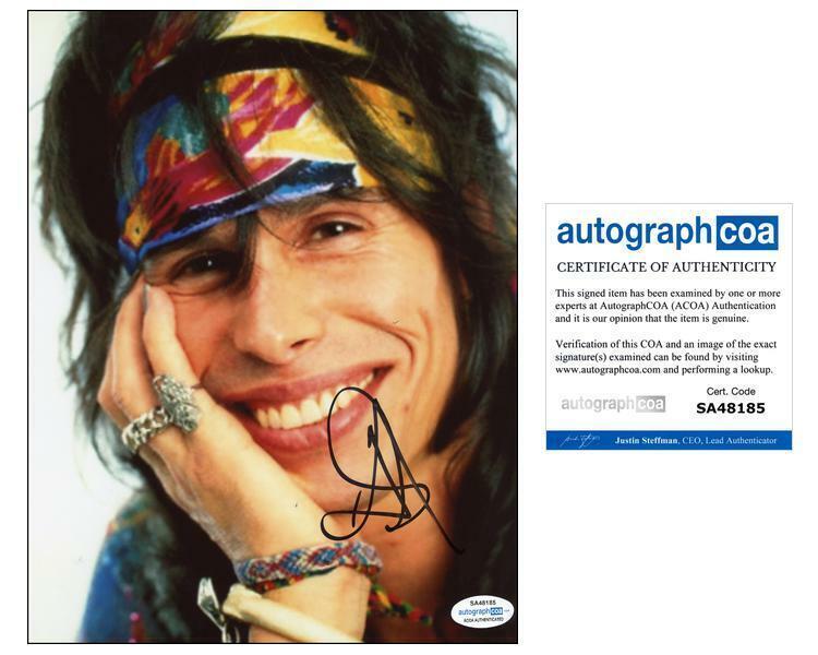 "Steven Tyler ""Aerosmith"" AUTOGRAPH Signed 8x10 Photo F ACOA"