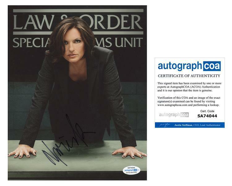 "Mariska Hargitay ""Law & Order: SVU"" AUTOGRAPH Signed Olivia Benson 8x10 Photo B"
