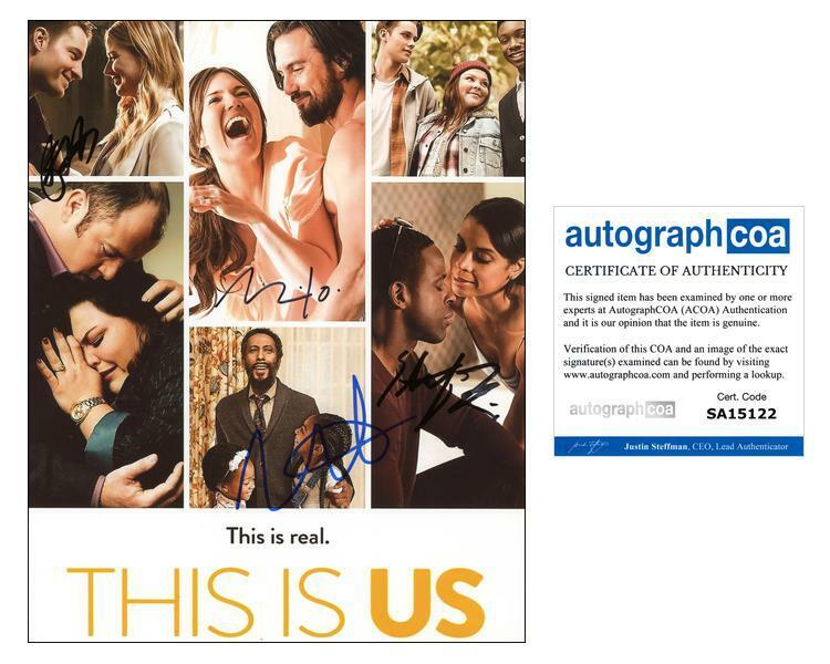 """""""This Is Us"""" Cast AUTOGRAPHS Signed 8x10 Photo - Mandy Moore + 3 ACOA"""