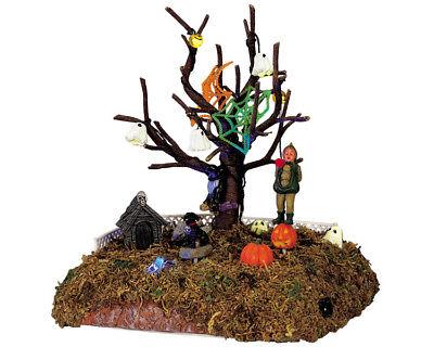Spooky Lit Halloween Tree (Lemax Spooky Town Halloween Apple Harvest Tree Animated Lighted LOT 600)