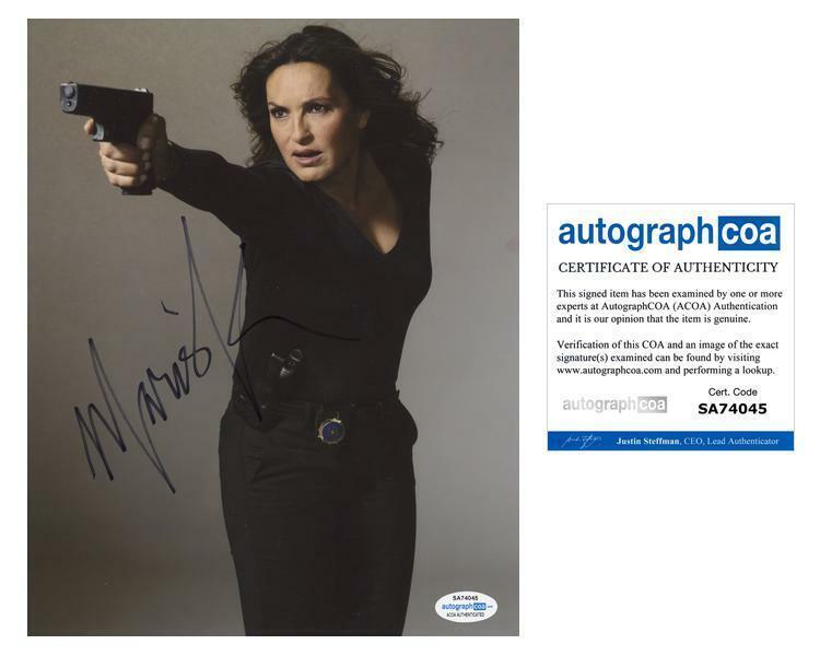 "Mariska Hargitay ""Law & Order: SVU"" AUTOGRAPH Signed 'Olivia Benson' 8x10 Photo"