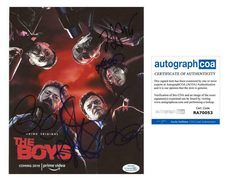 """The Boys"" Cast AUTOGRAPHS Signed 8x10 Photo - Antony Starr +4 ACOA"