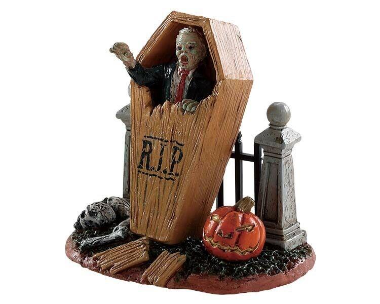Lemax Spooky Town Halloween coffin break. New in factory sealed package.
