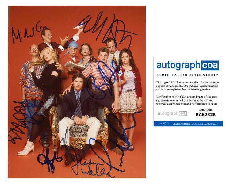 ARRESTED DEVELOPMENT Cast AUTOGRAPHS Signed 8x10 Photo ACOA LOA