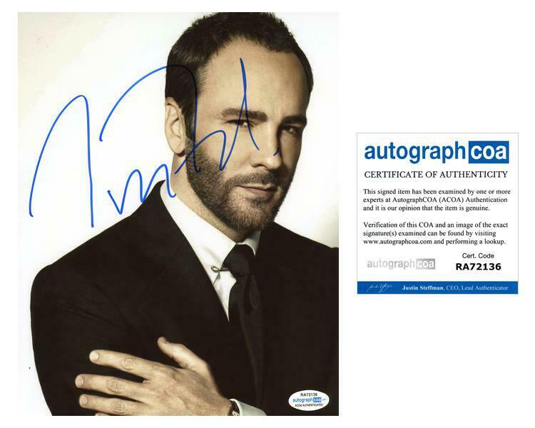 Tom Ford AUTOGRAPH Signed 8x10 Photo C ACOA