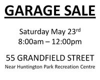 GARAGE SALE - Saturday May 23rd