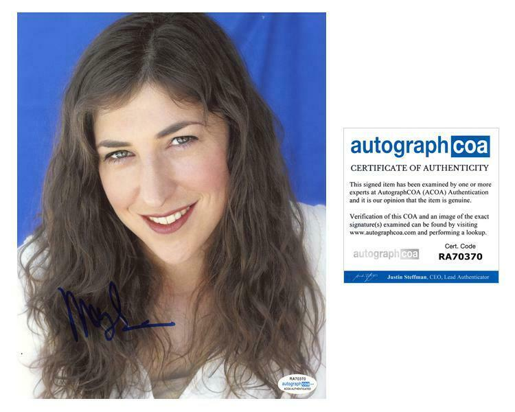 "Mayim Bialik ""The Big Bang Theory"" AUTOGRAPH Signed 8x10 Photo C ACOA"