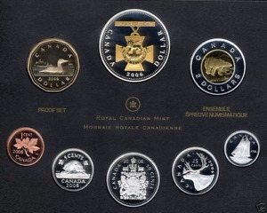 2006 PROOF DOUBLE DOLLAR SET - VICTORIA CROSS