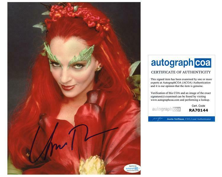 "Uma Thurman ""Batman & Robin"" AUTOGRAPH Poison Ivy Signed 8x10 Photo ACOA"