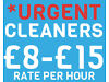 *URGENT* CLEANERS NEEDED TODAY - RATES £10-15 PER HOUR Central London