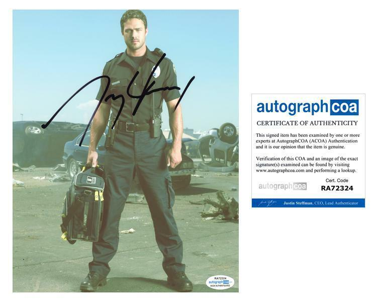 """Taylor Kinney """"Chicago Fire"""" AUTOGRAPH Signed 8x10 Photo ACOA"""