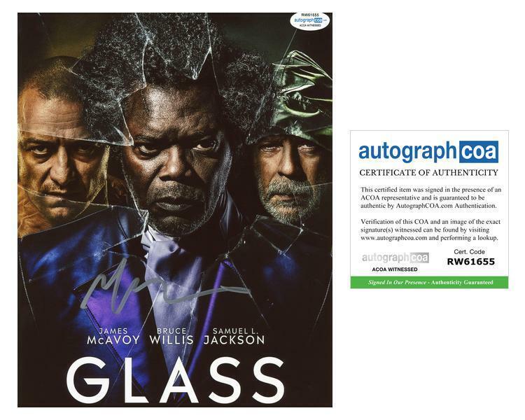 "M. Night Shyamalan ""Glass"" Director AUTOGRAPH Signed 8x10 Photo ACOA Witness ITP"