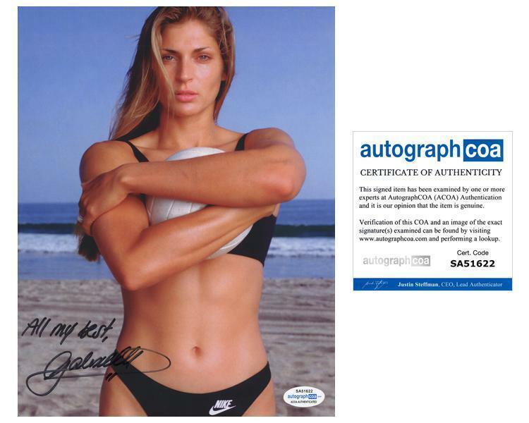 Gabrielle Reece AUTOGRAPH Signed Beach Volleyball 8x10 Photo ACOA