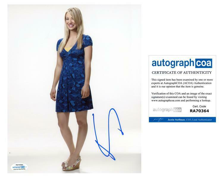 "Kaley Cuoco ""The Big Bang Theory"" AUTOGRAPH Signed 8x10 Photo ACOA"