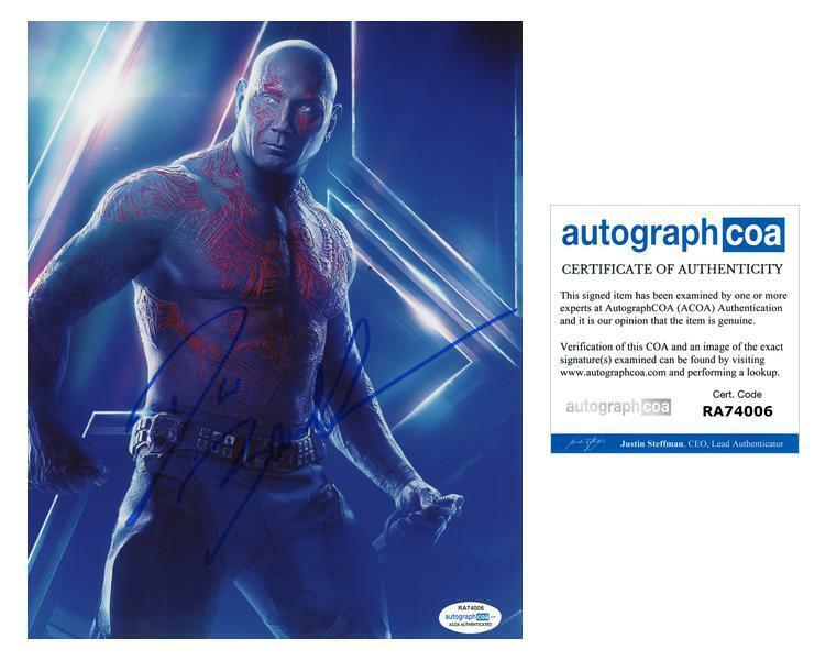 "Dave Bautista ""Avengers: Endgame"" AUTOGRAPH Signed 8x10 Photo ACOA"