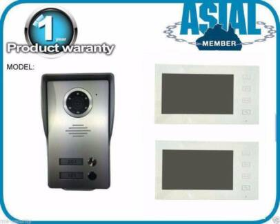 2 Units Intercom 1 Door Station + 2 Indoor Monitor Black/White Kingsgrove Canterbury Area Preview