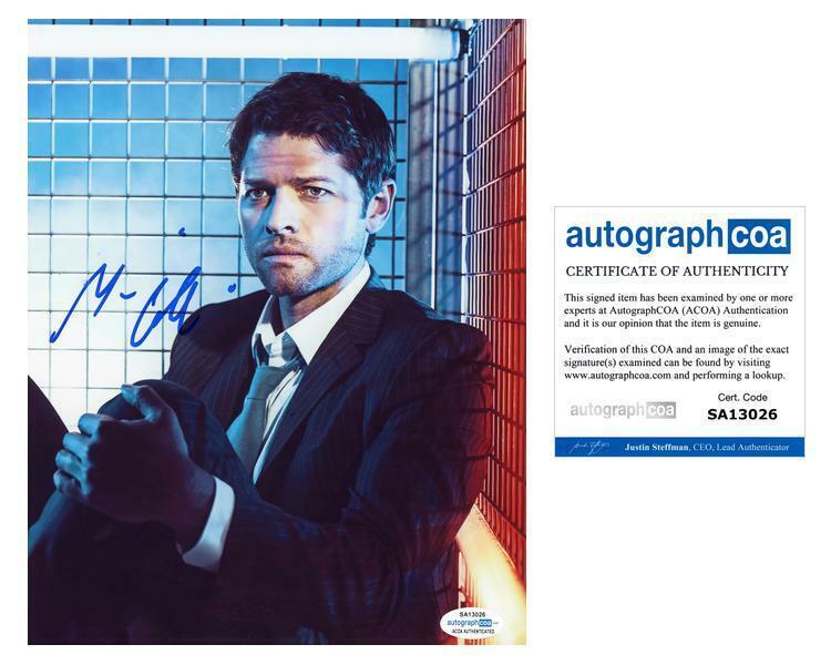 """Misha Collins """"Supernatural"""" AUTOGRAPH Signed 'Castiel' 8x10 Photo ACOA"""