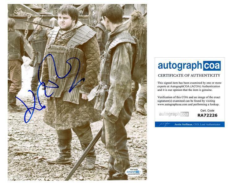 "John Bradley ""Game of Thrones"" AUTOGRAPH Signed 8x10 Photo ACOA"
