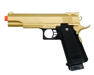 GOLD METAL M 1911 Airsoft Pistol FULL SIZE A1 Spring Hand Gun w/ 6mm BB BBs