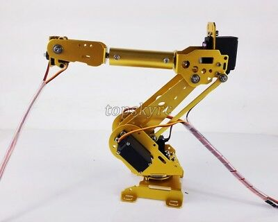 6 Axis Mechanical Robot Arm Industrial Robot Arm Free Manipulator W Servos Gus