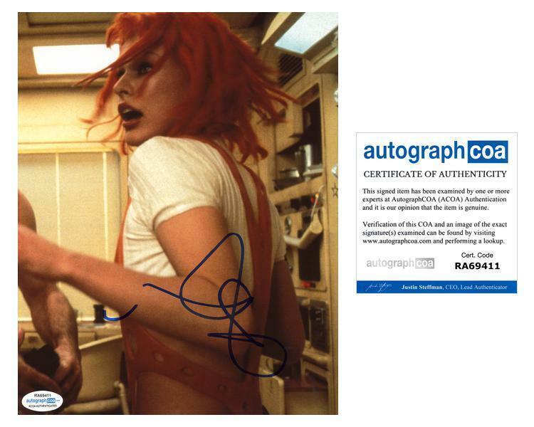 "Milla Jovovich ""The Fifth Element"" AUTOGRAPH Signed 8x10 Photo C ACOA"