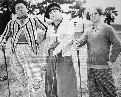 3 Three Stooges Moe Larry Curly golf   8x10 11x14 16x20 photo 123