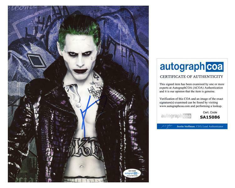 "Jared Leto ""Suicide Squad"" AUTOGRAPH Signed 'The Joker' 8x10 Photo ACOA"