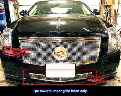 Fits Cadillac CTS Bumper Stainless Steel Mesh Grille Grill Insert 2008-2013