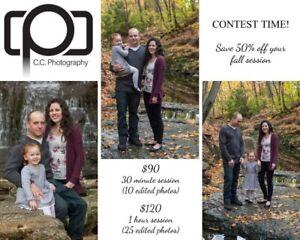 Ottawa Photographer ~ Win a photoshoot for $45!!