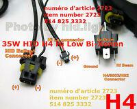 35W HID H4 Hi Low Bi-Xenon Controller Relay Harness B