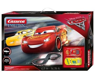 Disney Cars Carrera Go Carbon Speeders Lightning Mcqueen Car Track Store Gift
