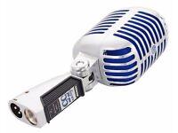 Shure Super 55 - Super-cardioid Dynamic Microphone - Blue Grills