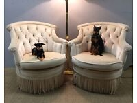 Pair beautiful armchairs free delivery in London