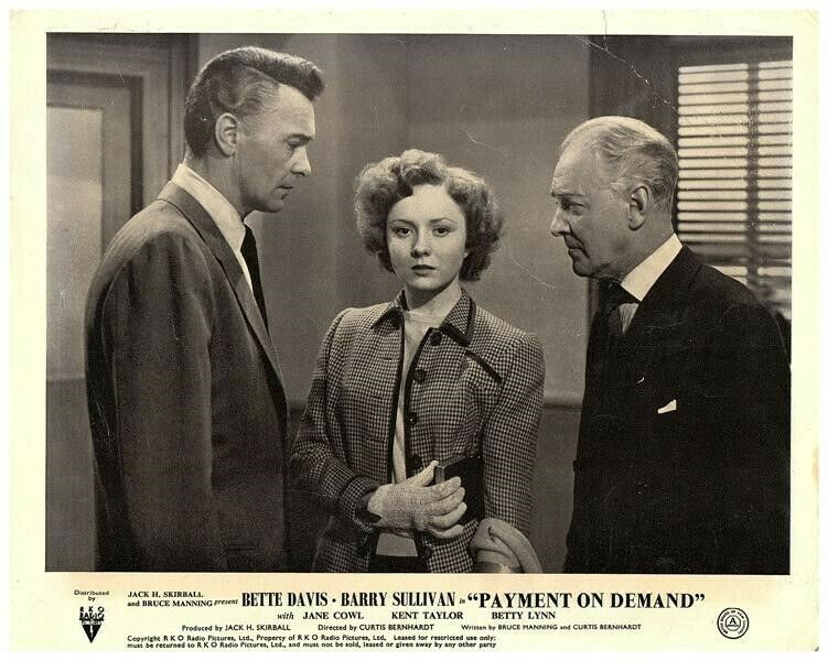 Payment on Demand Original Lobby Card Betty Lynn Barry Sullivan 1951