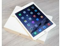 IPAD AIR 2 CELLULAR UNLOCKED + WIFI WHITE AND GOLD WITH WARRANTY UNTILL AUGUST 2017 + SMART COVER