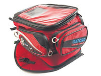 Like New Oxford x40 TAIL BAG TRAVEL TOURING BIKE motorcycle LUGGAGE Motorbike Red.