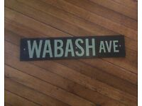 AMERICAN STREET SIGN COPY, IDEAL FOR GAMES room, man shed or pub decor,