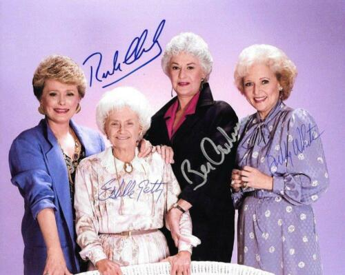 REPRINT - GOLDEN GIRLS Betty White Cast Autographed Signed 8 x 10 Photo RP
