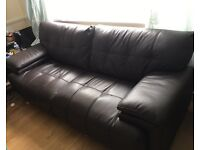REDUCED!! SCS 3+2 leather sofa