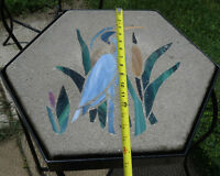Stained Glass Stepping Stone and Table Stand
