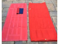 Red and blue single rubberised cotton air beds
