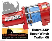 Runva 3.5P 12V ATV winch with Dyneema Rope **New in Box** Everton Hills Brisbane North West Preview