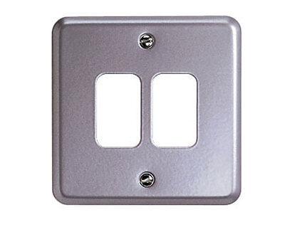 MK Grid Plus K3492ALM Metalclad 2 Gang Switch Plate