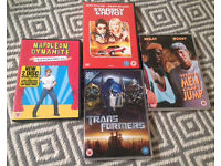 DVDs Napoleon Dynamite, starksy and hitch, white men cant jump &a transformers