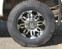 ** 4 New Hankook LT245-70-17  10 ply tires on new rims **