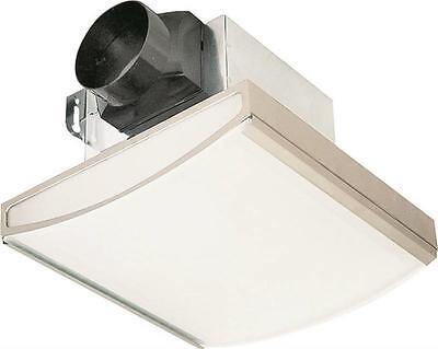 NEW AIR KING AKLC70SLN DECORATIVE NICKEL BATH EXHAUST FAN & LIGHT 70CFM  2715472